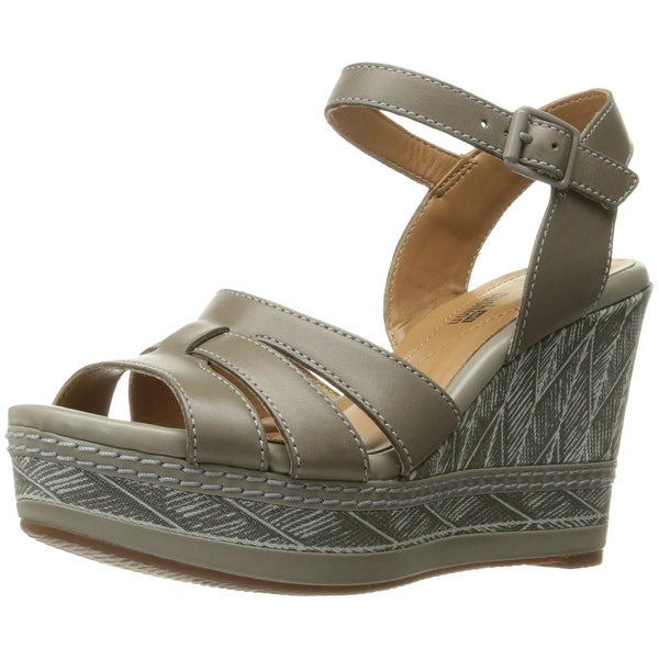 CLARKS Womens Zia Noble Leather Open Toe Casual Platform Sandals