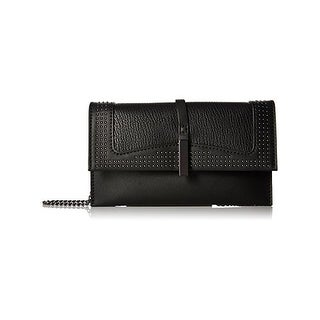 Danielle Nicole Womens Harlow Crossbody Handbag Faux Leather Studded - small