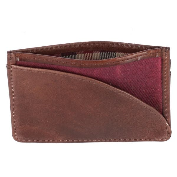 The British Belt Company Mens Langdale Waxed Twill Card Case Wallet