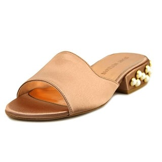 Stuart Weitzman Sliderpearl Open-Toe Canvas Slipper