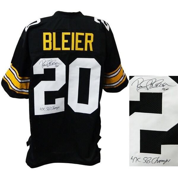 040f7d8829d Shop Rocky Bleier Black Throwback Custom Football Jersey w4x SB Champs -  Free Shipping Today - Overstock.com - 22175352