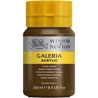 Winsor & Newton - Galeria Acrylic - 250ml Squeeze Bottle - Burnt Umber