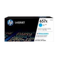 HP 657X Original LaserJet Toner Cartridge - Cyan (Single Pack) 657X High Yield Cyan Original