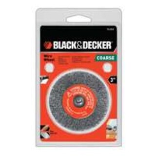"Black & Decker 70-603 Crimped Wire Wheel, 3"" x 1/4"""