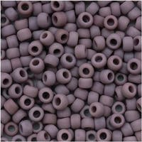 Toho Round Seed Beads 8/0 52F 'Opaque Frosted Lavender' 8 Gram Tube