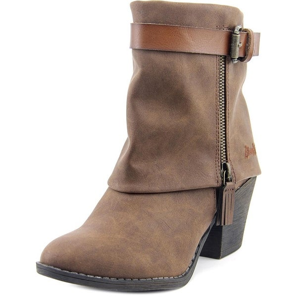 Blowfish Shocks Women Round Toe Canvas Brown Ankle Boot