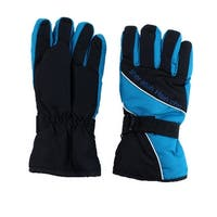 Hiking Motorcycle Climbing Snowmobile Ski Gloves Athletic Mittens Teal Blue Pair