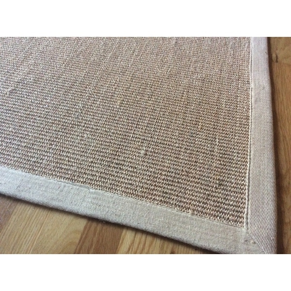 nuloom handmade alexa eco natural fiber cotton border sisal rug 5u0027 x 8u0027 free shipping today
