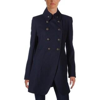 DKNY Womens Pea Coat Wool Textured - 12