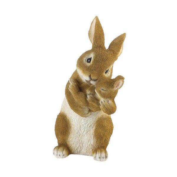 Newly Bonding Time Mom and Baby Rabbit Figurine