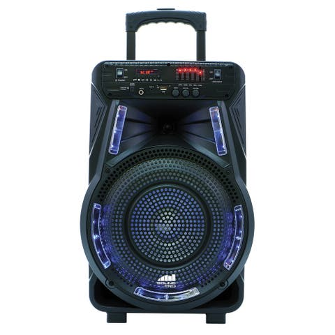 """Portable 12"""" Bluetooth® Party Speaker with Disco Light"""