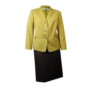 Tahari Women's Empire Couture Herringbone Skirt Suit