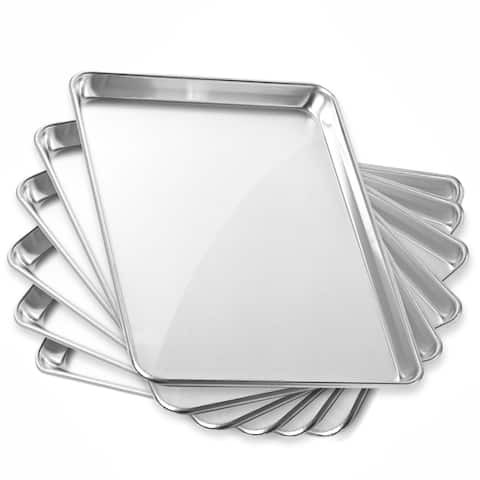 13 x 18 Inch 6-Pack, Commercial Aluminum Cookie Sheets by GRIDMANN