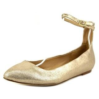 Splendid Lydia Women  Round Toe Suede Gold Flats