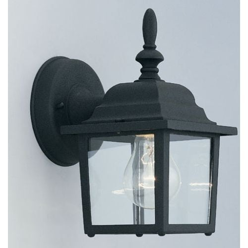 "Designers Fountain 2861-BK 1 Light 5.25"" Cast Aluminum Wall Lantern from the Quintessence Collection"