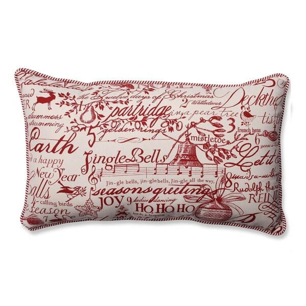 "18.5"" Holiday Song Rectangle Decorative Throw Pillow"