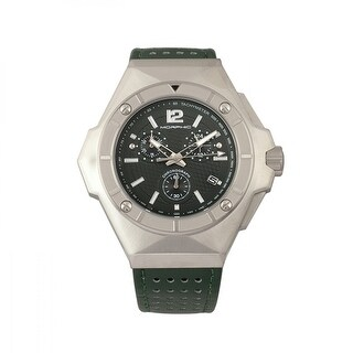 Morphic M55 Series Men's Quartz Chronograph Watch, Genuine Leather Band, Luminous Hands