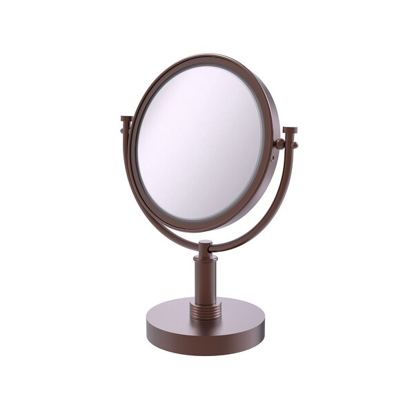 Allied Brass 8-in Vanity Top Make-Up Mirror 3X Magnification