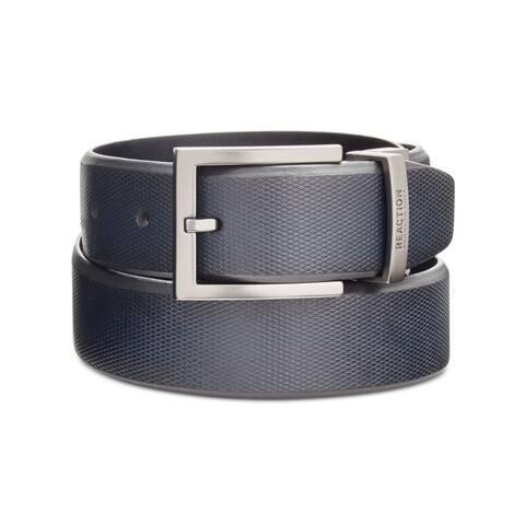 Kenneth Cole Reaction Mens Reversible Belt Faux Leather Beveled-Edge - XL