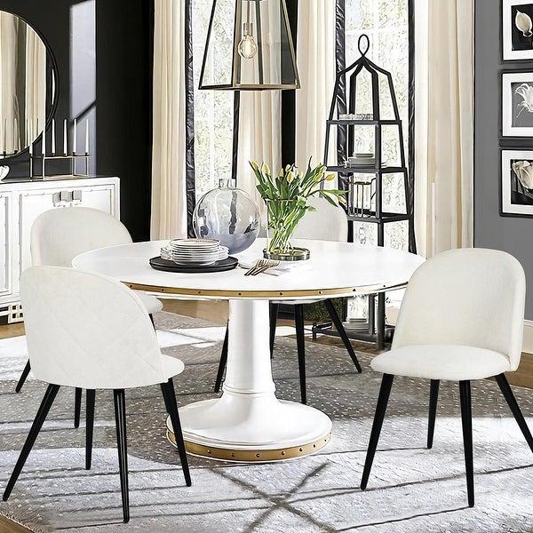 Carson Carrington Mid-Century Modern Velvet Dining Chair Set of 2. Opens flyout.
