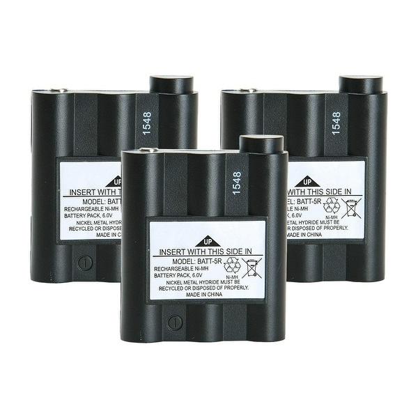 Replacement Battery For Midland GXT1050VP4 2-Way Radios - BATT5R (700 mAh, 6V, NiMH) - 3 Pack