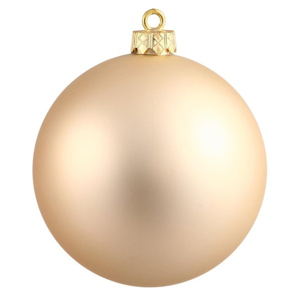 """Matte Champagne UV Resistant Commercial Drilled Shatterproof Christmas Ball Ornament 2.75"""" (70mm)"""