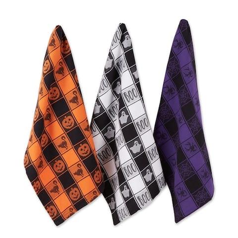 Halloween Woven Check Jacquard Dishtowel (Set of 3)