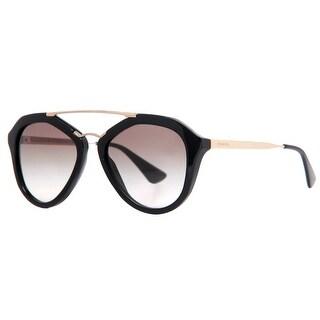Prada SPR 12Q 1AB-0A7 Cinema Black Gold Gradient Women's Aviator Sunglasses - Black/Gold - 54mm-18mm-135mm