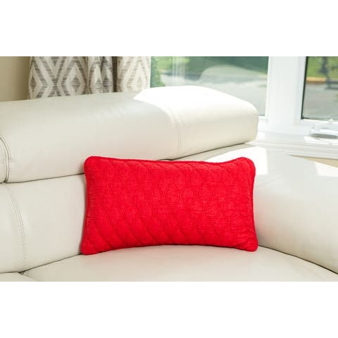 Ogee Long Cushion 12 in. x 20 In. Throw Pillow