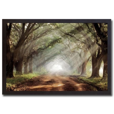 Evergreen Plantation by Mike Jones Black Framed Canvas Art (27 in x 39 in)
