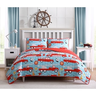 Link to Asher Home Kid's Fire Truck Lane Quilt Set Similar Items in Outdoor Play