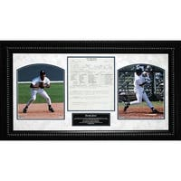Derek Jeter Framed 14x26 New York Yankees Scouting Report Collage