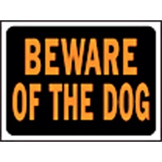 "HY-KO Products Sign Beware Of Dog 3002 9""X12""(Must Order By 10) - 3002"