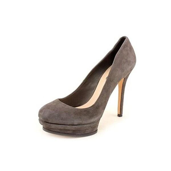BCBG Max Azria Pamela1 Women Open Toe Suede Platform Heel - 10