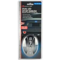Pilot Automotive White/ Blue LED Dual LED Sport Emblem