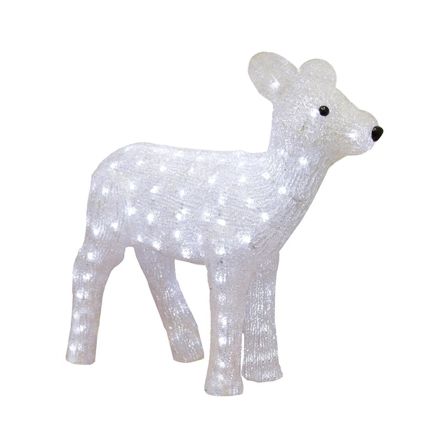 """19"""" Pre-lit Commercial Grade Acrylic Baby Reindeer Christmas Outdoor Decoration"""