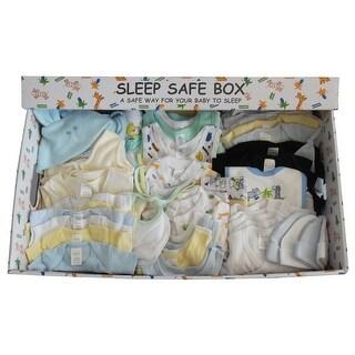 Boy 88 Piece Baby Starter Set Box (Blue, Mixed Sizes)
