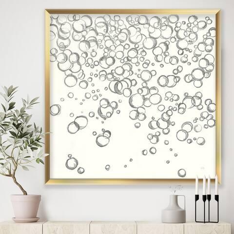 Designart 'Simple Bubbles I' Mid-Century Modern Framed Art Print