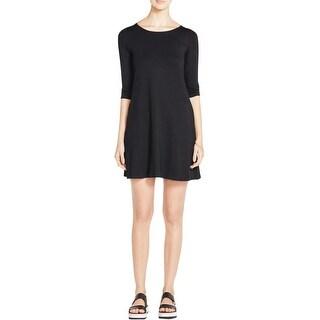 Eileen Fisher Womens Petites Cocktail Dress Jersey Knee-Length