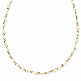 Goldtone Downton Abbey Simulated Pearl Necklace - 36in