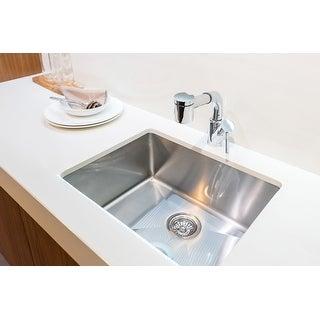 """Karran 23"""" Undermount Single Bowl Stainless Steel Kitchen Sink Kit"""
