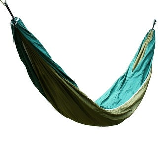 Konoo Authorized Home Outdoors Swing Bed Portable Double Hammock Army Green