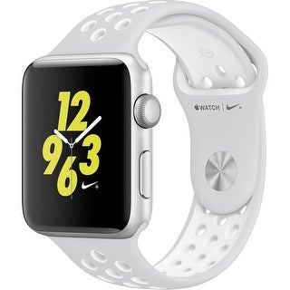 Apple Watch Nike+ Series 2 38mm - Smart Watch with Heart Rate Monitor - Pure Platinum/White