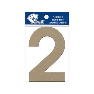 "Chipboard Number 4"" 2 2pc Natural"
