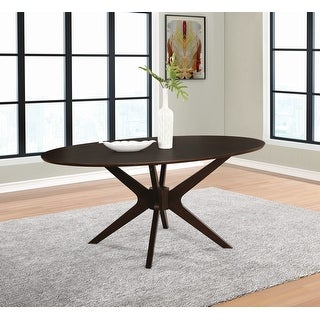 "Link to Carson Carrington Maglaby Medium Brown Oval Dining Table - 44"" x 30.50"" x 75"" Similar Items in Dining Room & Bar Furniture"