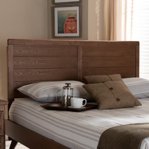 Carson Carrington Ulvsta Walnut Mid-century Wood Headboard