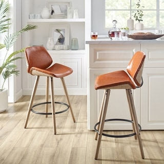 Link to Art-Leon Mid-Century Counter Height Barstool with Bamboo Legs Similar Items in Dining Room & Bar Furniture