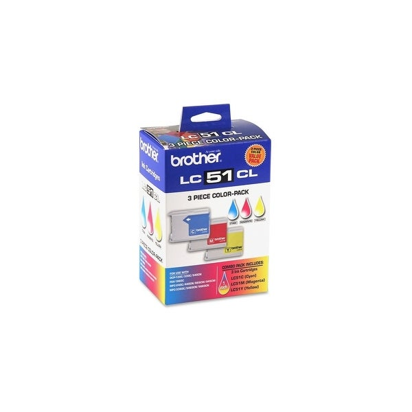 Brother LC513PKS Brother LC513PKS Tri-Color Ink Cartridge - Cyan, Yellow, Magenta - Inkjet - 400 Page Cyan, 400 Page Yellow, 400