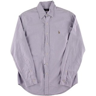 Polo Ralph Lauren Mens Oxford Embroidered Logo Button-Down Shirt