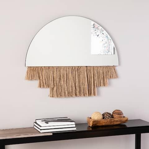 Shaw Arch Decorative Wall Mirror w/ Rope Trim